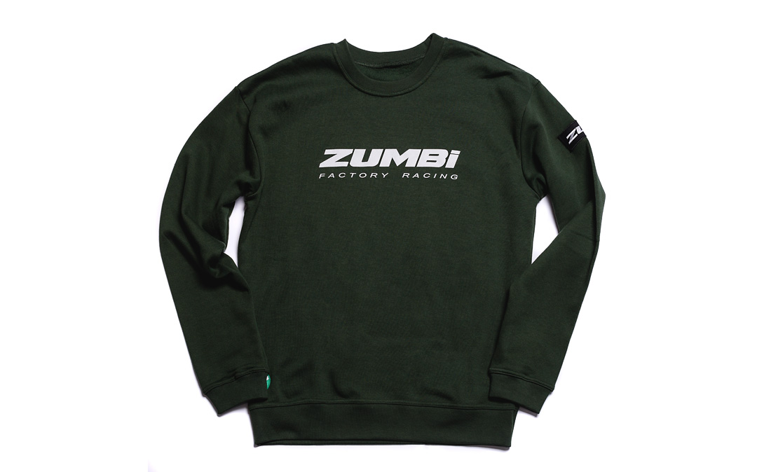 Sweatshirt with lettering and framis tape Zumbi logo