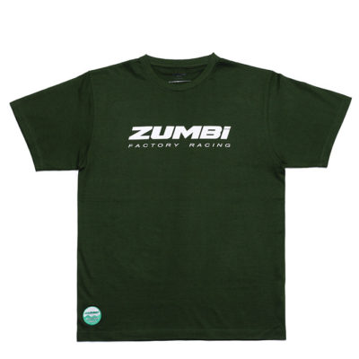 Zumbi Factory Racing logo T-shirt bottle green