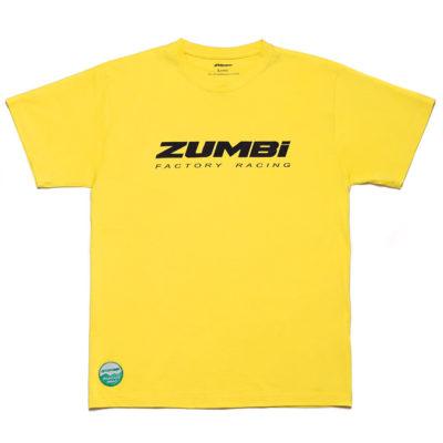 Zumbi Factory Racing logo T-shirt yellow